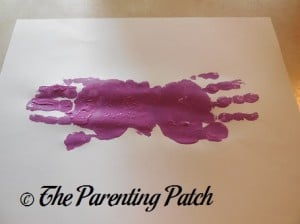 Adding a Second Purple Handprint to the Palm Print