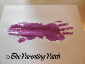 Adding a Second Purple Handprint to the Palm Print