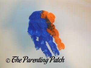 Blue and Orange Handprint