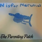 N Is for Narwhal Handprint Craft