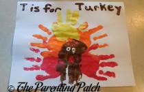 T Is for Turkey Handprint Craft