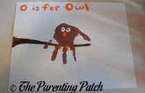 O Is for Owl Handprint Craft