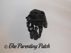 Black Handprint with Fingers Together
