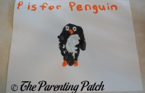 P Is for Penguin Handprint Craft
