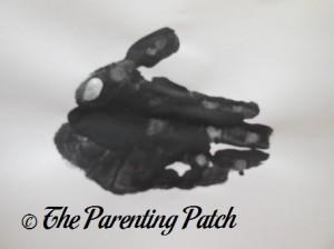 Adding a White Fingertip Print to the Black Handprint