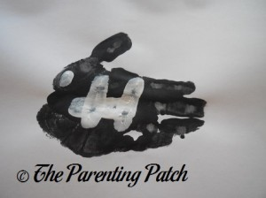 Adding White Fingerprint Bones to the Black Handprint