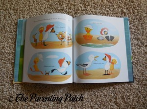 Inside Pages of Duck & Goose Go to the Beach 2