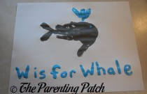 W Is for Whale Handprint Craft