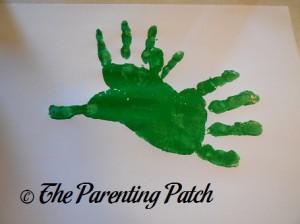 Two Green Handprints