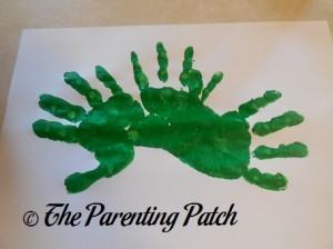 Three Green Handprints