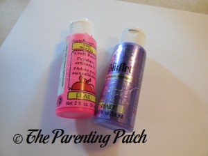 Pink and Purple Acrylic Paint