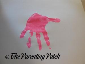 Pink Handprint