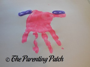 Adding Two Purple Fingerprints to the Pink Handprint
