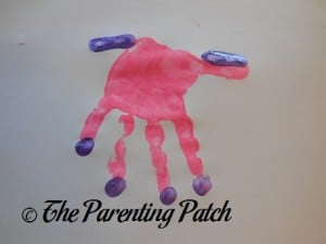 Adding Four Fingertip Prints to the Pink Handprint