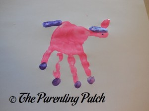Painting on a Purple Unicorn Eye