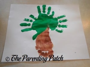 Adding Three Green Handprints to the Footprint