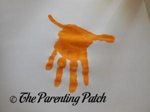 Painting on an Orange Jaguar Tail