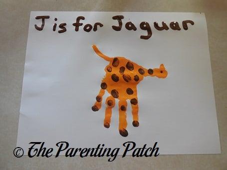 J Is for Jaguar Handprint Craft