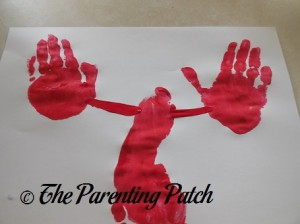 Connecting the Red Handprints to the Red Footprint