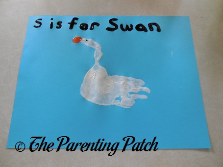 S Is for Swan Handprint Craft