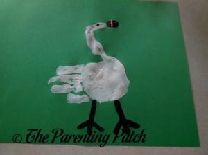 Painting on Black Goose Legs