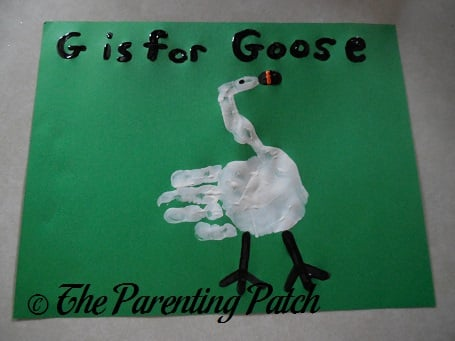 G Is for Goose Handprint Craft
