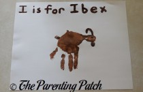 I Is for Ibex Handprint Craft