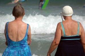 Overweight Women at Beach