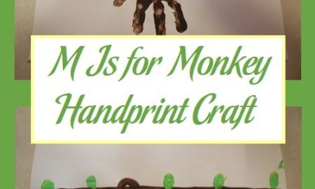M Is for Monkey Handprint Craft