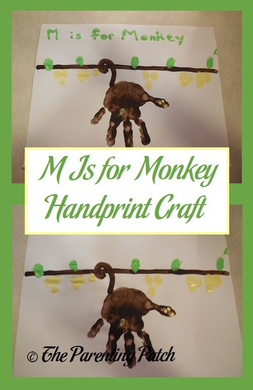 M Is for Monkey Handprint Craft | Parenting Patch