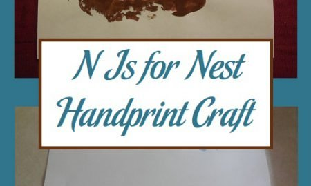 N Is for Nest Handprint Craft