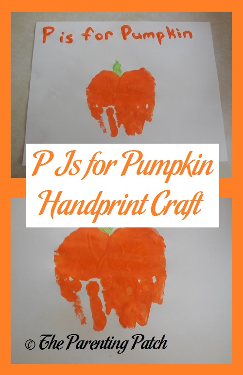 P Is for Pumpkin Handprint Craft