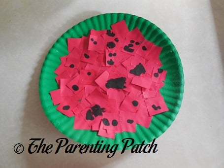Watermelon Paper Plate Toddler Craft