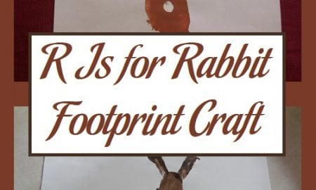 R Is for Rabbit Footprint Craft