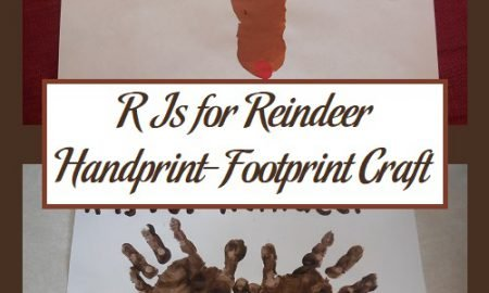 R Is for Reindeer Handprint-Footprint Craft
