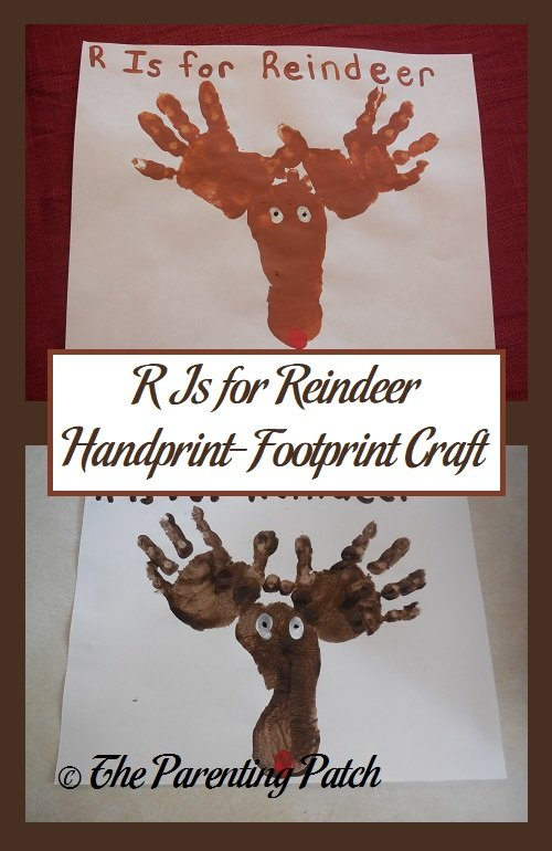 R Is for Reindeer Handprint-Footprint Craft