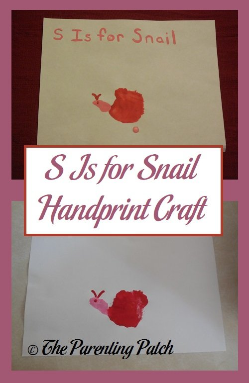 S Is for Snail Craft