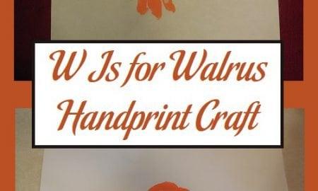 W Is for Walrus Handprint Craft