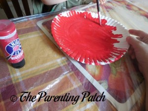 Painting the Paper Plate Red 2