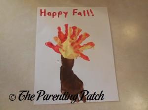 Autumn Tree Handprint-Footprint Craft