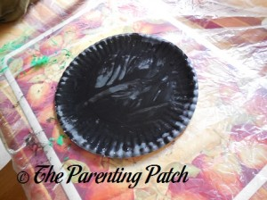 Black Paper Plate
