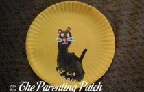 Full Moon Black Cat Paper Plate Craft
