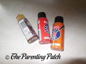 Brown, Red, and Orange Acrylic Paint