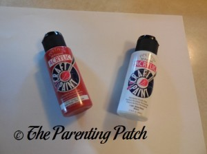 Red and White Acrylic Paint