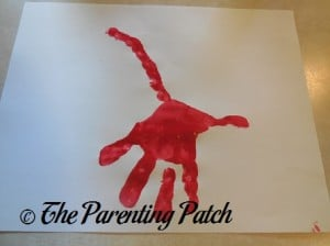 Adding Three Red Fingerprints to the Red Handprint