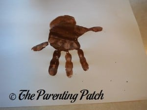 Adding a Brown Palm Print to the Handprint