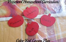 Preschool Homeschool Curriculum: Color Red Lesson Plan