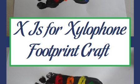 X Is for Xylophone Footprint Craft