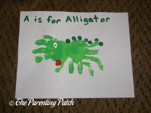 A Is for Alligator Handprint Craft 2