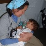 Sick Child with Nurse